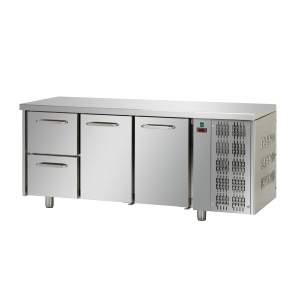 Koelwerkbank 3-deurs TP 2150 Euronorm (bakkerij)