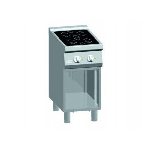 Kooktafel ATA keramisch 2-zones + open onderstel