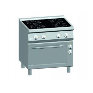 Kooktafel ATA keramisch 4-zones + elektrische oven 1/1 GN