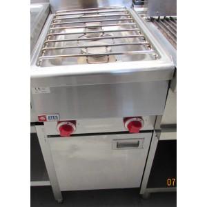 Kooktafel ATES, 2-pits, gas, op onderstel, occasion