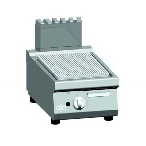 Bakplaat (ribbel) op gas ATA enkel tafelmodel