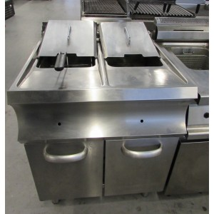 Friteuse gas 2 pans MBM GF777B occasion