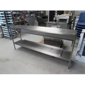 Werktafel RVS met onderplank