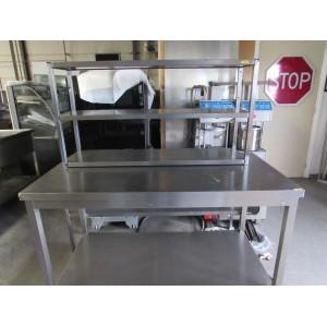 Werktafel RVS met onderblad
