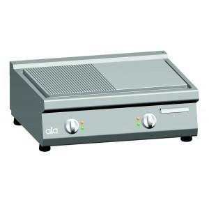 Bakplaat (ribbel/glad) elektrisch ATA dubbel tafelmodel