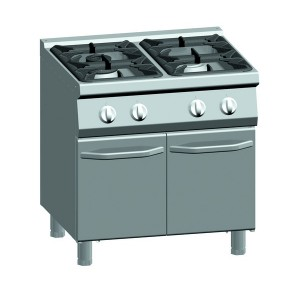 Kooktafel ATA 4-pits + onderstel met deuren (power branders)