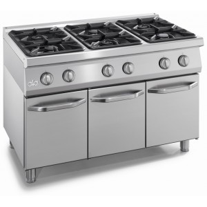 Kooktafel ATA 6-pits + onderstel met deuren
