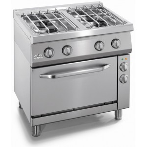 Gasfornuis ATA 4-pits + elektrische oven 1/1 GN