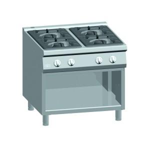 Kooktafel ATA 4-pits + open onderstel (power branders)