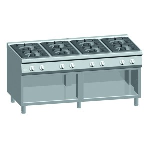 Kooktafel ATA 8-pits + open onderstel