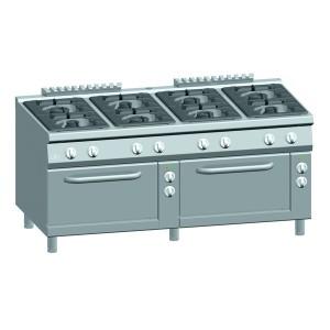 Gasfornuis ATA 8-pits + 2 elektrische ovens