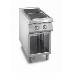 Kooktafel ATA elektrisch 2-plaats met open onderstel