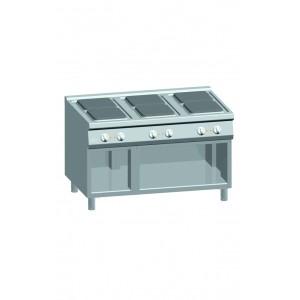 Kooktafel ATA elektrisch 6-plaats met open onderstel