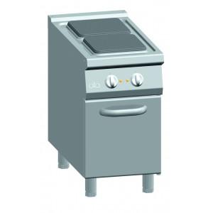 Kooktafel ATA elektrisch 2-plaats + deur
