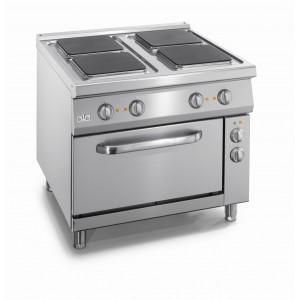 kooktafel ATA elektrisch 4-plaats + elektrische oven 2/1 GN