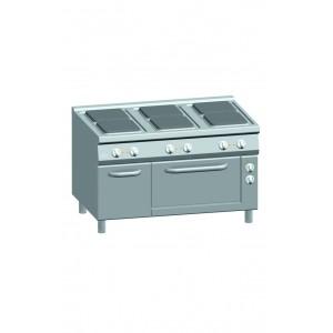 Kooktafel ATA elektrisch 6-pits + elektrische oven 2/1 GN + deur