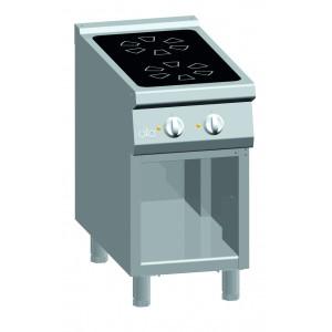 Kooktafel ATA keramisch  2-zones met open onderstel