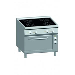 Kooktafel ATA keramisch 4-zones met elektrische oven 2/1 GN