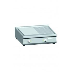 Bakplaat ATA (ribbel/glad) elektrisch dubbel tafelmodel