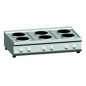 Kooktafel ATA elektrisch 6-plaats tafelmodel