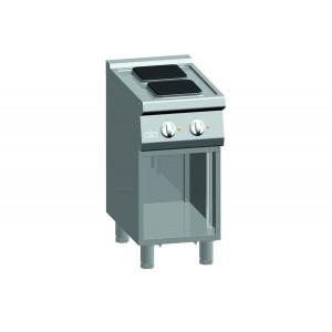 Kooktafel ATA elektrisch 2-plaats + open onderstel