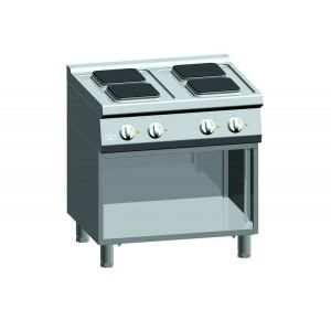 Kooktafel ATA elektrisch 4-plaats + open onderstel