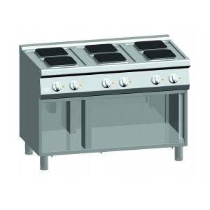 Kooktafel ATA elektrisch 6-plaats + open onderstel